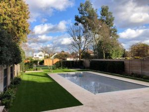 Artificial Grass Around Swimming Pool After