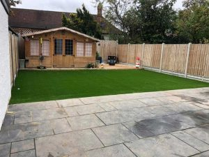 Artificial Grass Low Maintenance Garden After