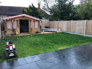 Artificial Grass Low Maintenance Garden Before