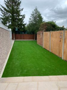 West London Artificial Grass Garden After