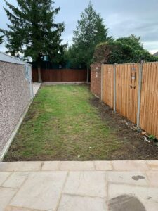 West London Artificial Grass Garden Before