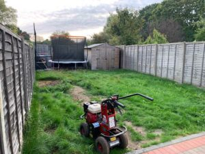 West London Artificial Grass Garden Transformation Before
